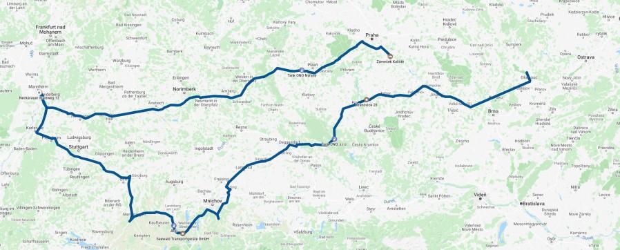 mapa dne